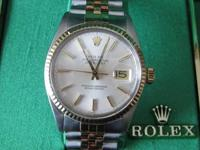 14K gold and stainless Datejust with original box,