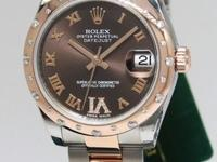 Rolex Datejust 18k Rose Gold/Steel Diamond VI Midsize
