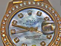 Rolex Datejust 18k Yellow Gold Factory Diamond MOP