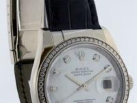 Rolex Datejust 36mm 18k White Gold Mother of Pearl &