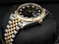 Rolex Datejust II, Steel & Yellow Gold, Black Diamond