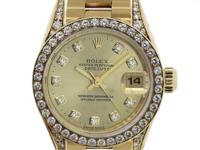 Dial: Gold-tone dial with 10 Round Brilliant Diamond