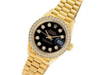 Ladies Rolex Datejust in 18k yellow gold with a factory