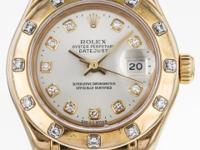 Rolex DateJust Master Piece 18K Yellow Gold Diamond