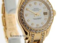 Rolex Datejust Pearlmaster 80298 A 18K Yellow Gold MOP