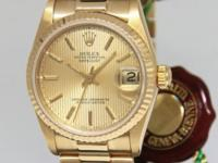 Rolex Datejust President 18k Gold Champagne Tapestry