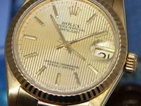 Rolex Datejust President 18k Yellow Gold Tapestry Dial