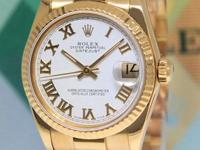 Rolex Datejust President 18k Yellow Gold White Dial