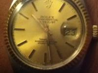 VERY RARE Tiffany&Co Edition Rolex Datejust 18k and