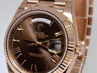 Rolex Day-Date 40 18k Everose Gold Mens Watch