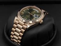 Rolex Day-Date 40, Rose Gold, Green Roman Dial,