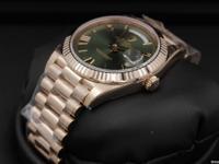 Rolex, Day-Date 40, Green Roman Dial, Blue Chromalight