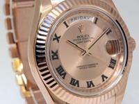 Rolex Day Date II 18k Everose Gold 41mm Pink Roman Dial