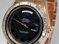 Rolex Day-Date II 18k Rose Gold & Diamond Mens