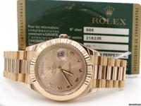 Up for sale we have this Rolex Day Date II 41mm Rose