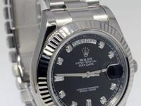 Rolex Day-Date II President 18k White Gold Diamond Dial