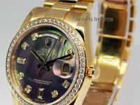 Rolex Day Date President 18k Gold MOP Diamonds Watch