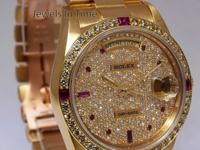 Rolex Day-Date President 18k Yellow Gold Diamond/Ruby
