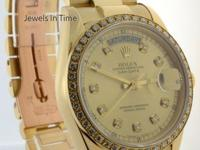 Rolex Day-Date President 18K Yellow Gold & Diamonds