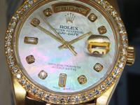 Rolex Day-Date President 18k Yellow Gold MOP Diamond