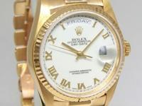 Rolex Day-Date President 18k Yellow Gold White Roman