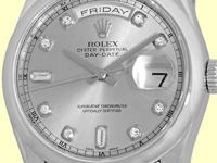 factory rolex silver/slate color dial with diamond hour