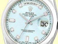 factory rolex glacier ice blue dial with diamond