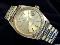 This is a very handsome gents authentic Rolex solid 18k