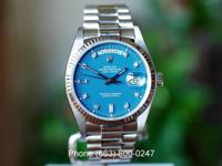 Rolex Day Date White Gold, Blue Diamond Stella Dial,