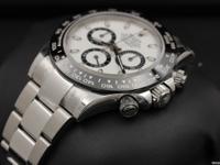 Rolex, Daytona, Stainless Steel, Ceramic Bezel, White