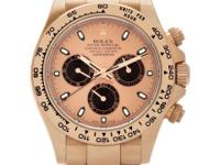 Rolex Everose Daytona in 18k rose gold. With subseconds
