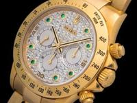 Very rare Rolex Daytona 16528 fitted with a full pave