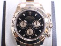 ROLEX DAYTONA 18K EVERROSE GOLD REF#116505 WITH BLACK