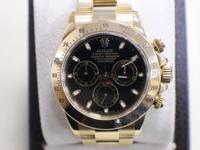 ROLEX DAYTONA 116528 18K YELLOW GOLD BLACK DIAL 2003