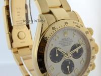 Rolex Daytona 18k Yellow Gold Panda Dial Chronograph