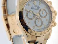 Rolex Daytona 18k Yellow Gold White Dial Chronograph