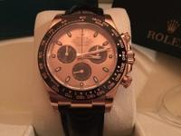 for sell rolex daytona in pink gold ref 116515 leather