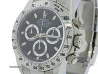 MINT 2009 Rolex Daytona Cosmograph 116520 Black Steel