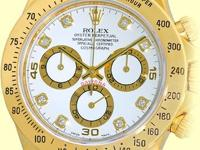 factory rolex white dial with yellow gold subdials