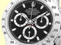 black dial with luminescent hour hands and index hour