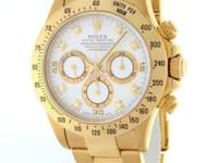 Rolex Daytona Zenith 18k Yellow Gold White Diamond Dial