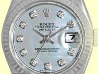 factory rolex mother-of-pearl dial with diamond hour