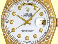 custom geneva collection white diamond dial with round