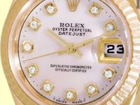 custom geneva collection mother of pearl diamond dial,