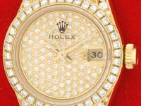 geneva collection pav diamond dial with sweep second