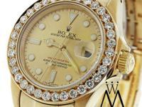 Diamond Rolex Yacht-Master 16628 18K Yellow Gold