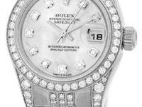 factory rolex mother-of-pearl diamond dial with diamond