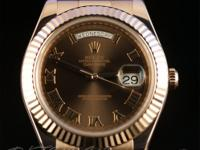 Pre-owned Rolex Everose Day-Date II 218235 random