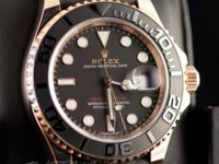 Pre-owned Rolex Everose Yachtmaster 40 116655 random