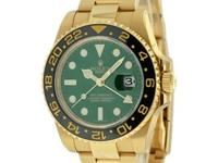 New gents Rolex GMT Master II in 18K yellow gold